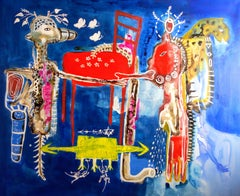 Scarcity and absence - William Bakaïmo, 21st Cent, Contemporary African Painting