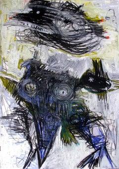 Tinnitus #3 - Parmis Sayous 21st Century drawing, Iranian contemporary painter