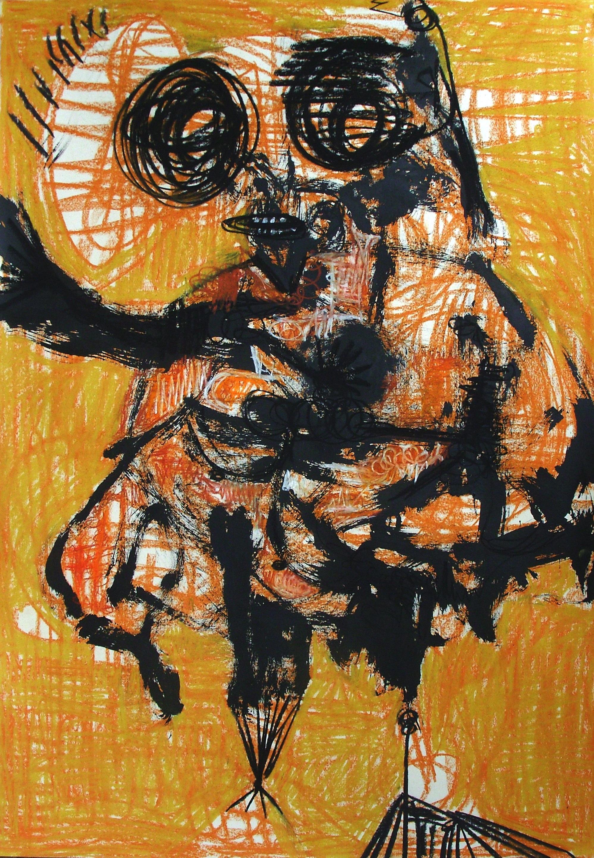 Untitled - Parmis Sayous 21st Century drawing, Iranian contemporary painter