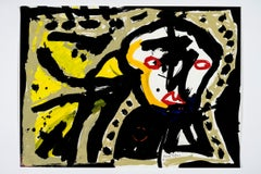 The sorrows of your changing face -Daniel Erban, 20th Century, Outsider painting