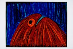 A lonely ghost the ghost is -Daniel Erban, 20th Century, Outsider art painting