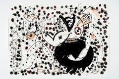 Despair's unhallowed bed -Daniel Erban, 20th Century, Outsider art painting