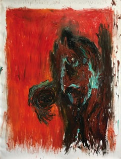 What should I do with the ball ? Julien Wolf Contemporary Expressionist Painting