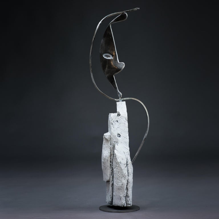 Parable - Haude Bernabé, 21st Century, Contemporary metal sculpture, figure - Sculpture by Haude Bernabé
