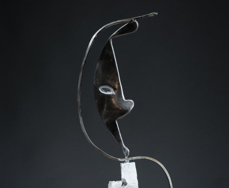 Parable - Haude Bernabé, 21st Century, Contemporary metal sculpture, figure - Black Abstract Sculpture by Haude Bernabé