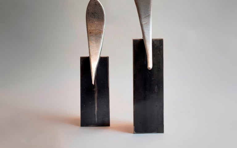Twins - Haude Bernabé, 21st Century, Contemporary metal sculpture, figure For Sale 1
