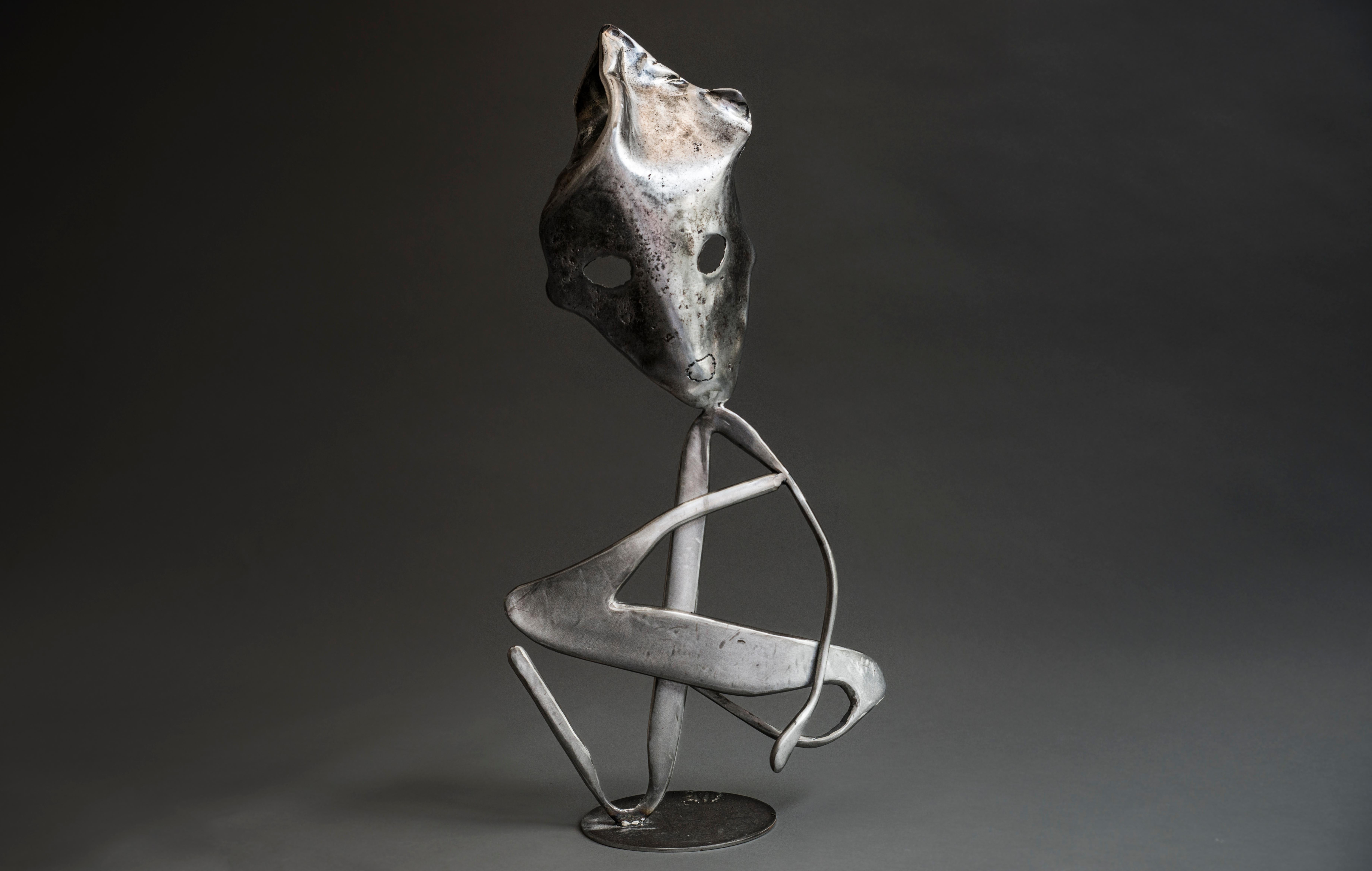 Y - Haude Bernabé, 21st Century, Contemporary metal sculpture, figure