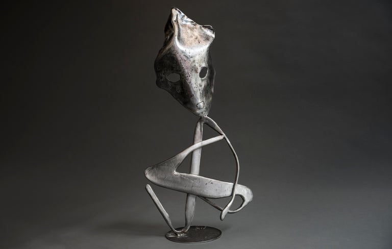 Y - Haude Bernabé, 21st Century, Contemporary metal sculpture, figure - Sculpture by Haude Bernabé