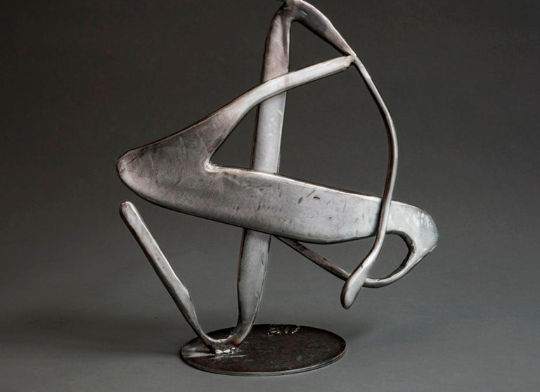 Y - Haude Bernabé, 21st Century, Contemporary metal sculpture, figure For Sale 1