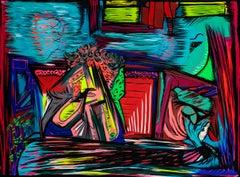 Hide-and-seek on the back seat - Paul-Louis Ordonneau, Contemporary painter