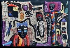 Abobo - Barbara d'Antuono, 21st Century Contempory textile art hand sewn
