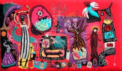 Never forget ! Barbara d'Antuono 21st Century Contempory textile art hand sewn