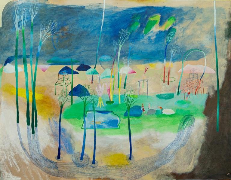 Change of paradigm #3 - Hélène Duclos, 21st Century, Contemporary figurative - Painting by Hélène Duclos
