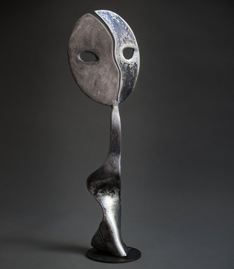 Moonshine - Haude Bernabé, 21st Century, Contemporary metal sculpture, figure - Sculpture by Haude Bernabé