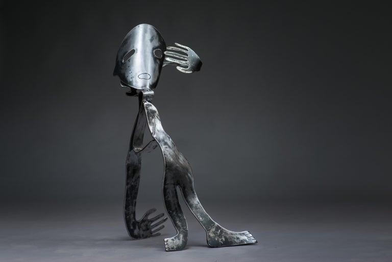 The Lunatic - Haude Bernabé, 21st Century, Contemporary metal sculpture, figure - Sculpture by Haude Bernabé