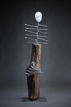 El Desdichado Haude Bernabé, 21st Century, Contemporary metal sculpture, figure
