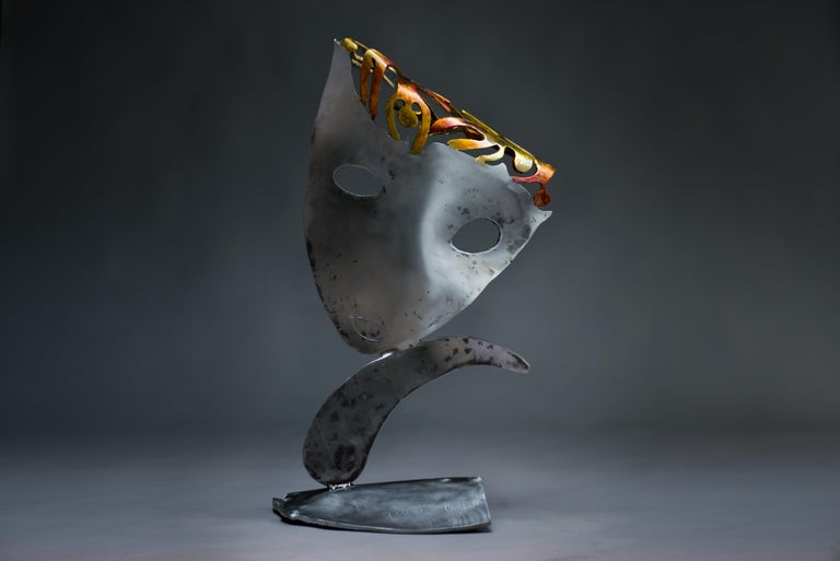 Someones in my head  - Haude Bernabé, 21st Century, Contemporary metal sculpture - Sculpture by Haude Bernabé