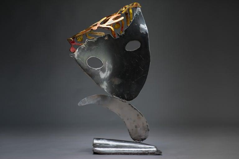 Someones in my head  - Haude Bernabé, 21st Century, Contemporary metal sculpture - Black Figurative Sculpture by Haude Bernabé