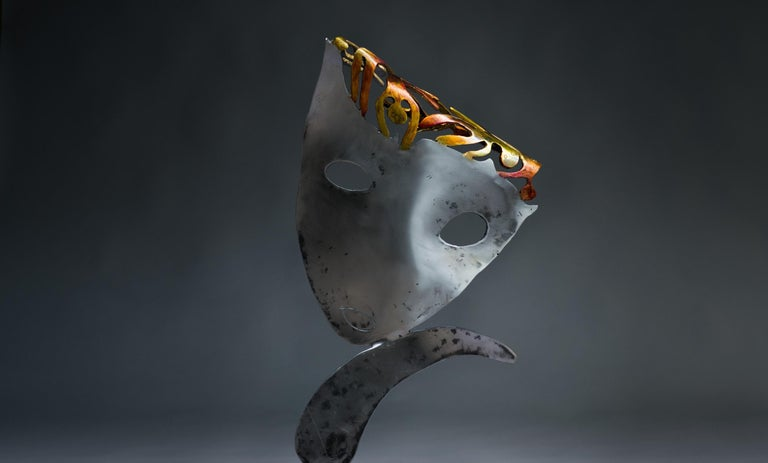 Polished and patinated steel sculpture Unique work Signed and dated on the base  Born in Brest and with a scientific background, Haude Bernabé has devoted herself to art since the early 1990s. Her first passion was art, the second one biology. In