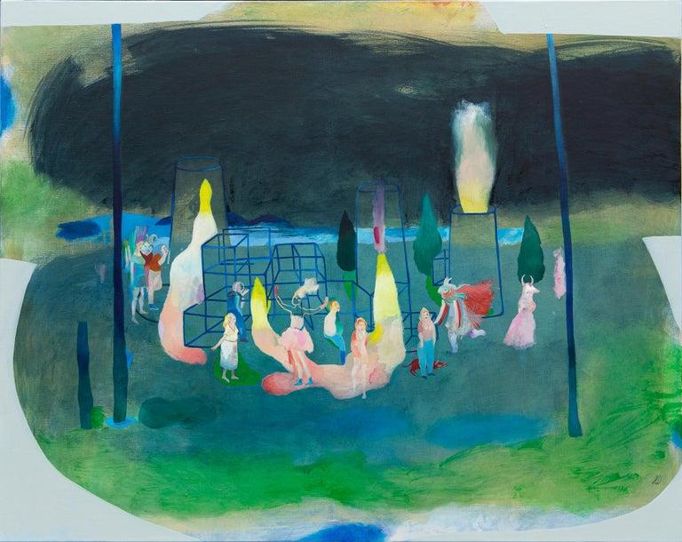 Incoherence of compulsory ways #1 - Hélène Duclos, Contemporary figurative paint - Painting by Hélène Duclos
