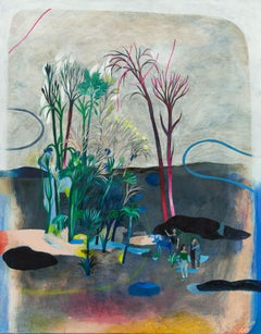 The disappearance of the guardian genius #5 Hélène Duclos, Contemporary painting