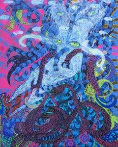 I'm yours - Imam Sucahyo, 21st Century painting, Figurative art, Outsider art