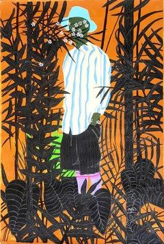 The gardener #1 - Moustapha Baïdi Oumarou, 21st Century, African painting