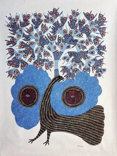 Peacock - Ram Singh Urveti, 21st Century, Indian contemporary painting