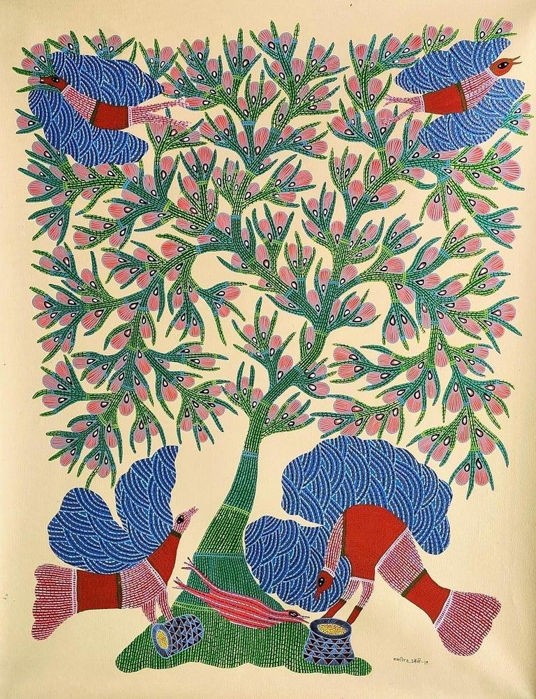 Nature - Ram Singh Urveti, 21st Century, Indian contemporary painting - Painting by Ram Singh Urveti