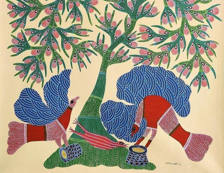 Nature - Ram Singh Urveti, 21st Century, Indian contemporary painting - Contemporary Painting by Ram Singh Urveti