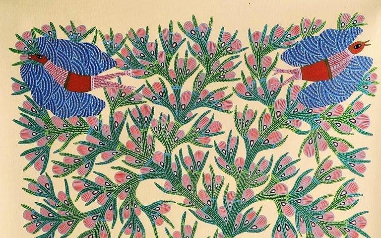 Nature - Ram Singh Urveti, 21st Century, Indian contemporary painting - Beige Figurative Painting by Ram Singh Urveti