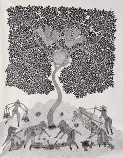 Farming - Ram Singh Urveti, 21st Century, Indian contemporary painting