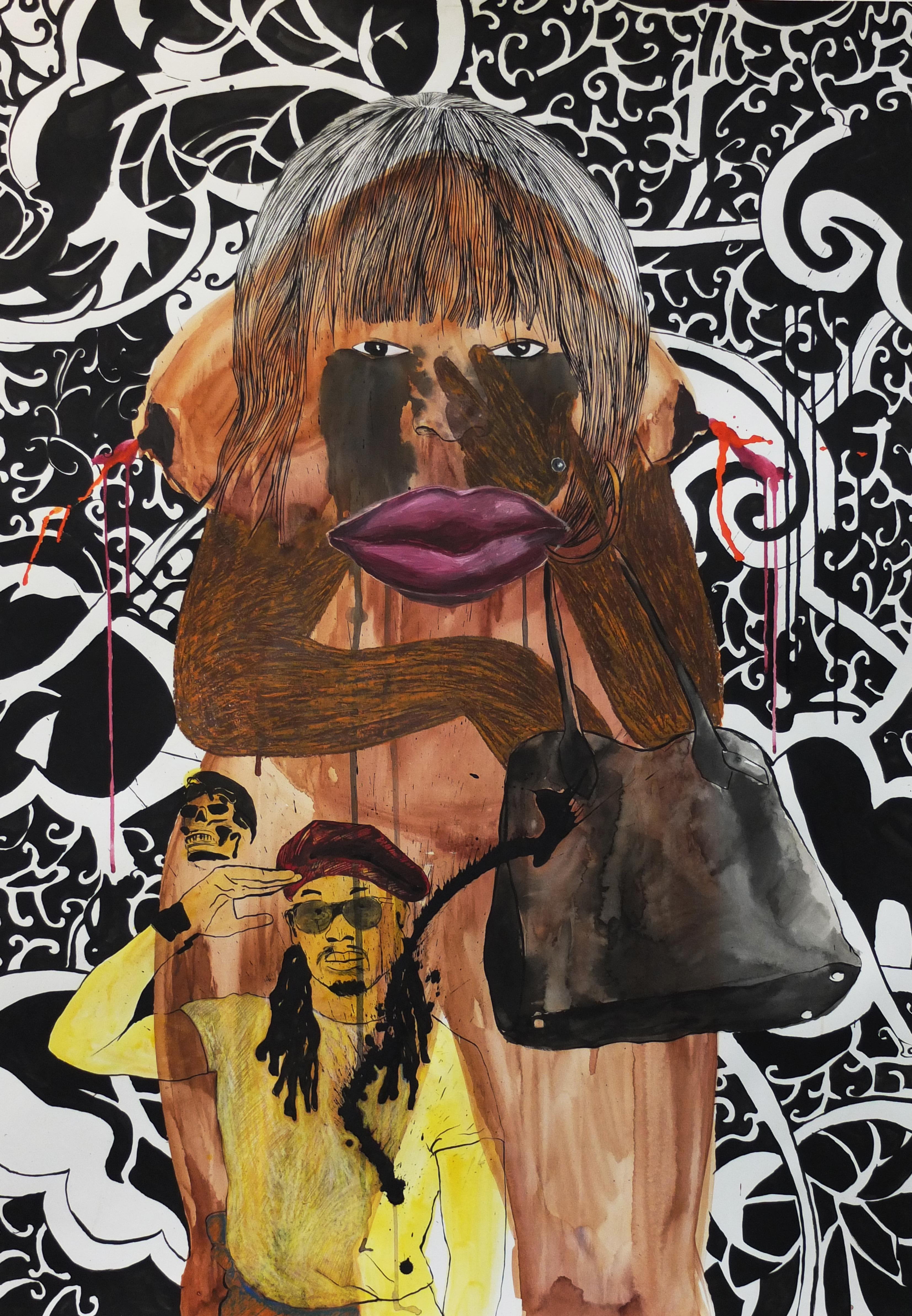 Belinda - Leslie Amine, 21st Century, Contemporary African drawing