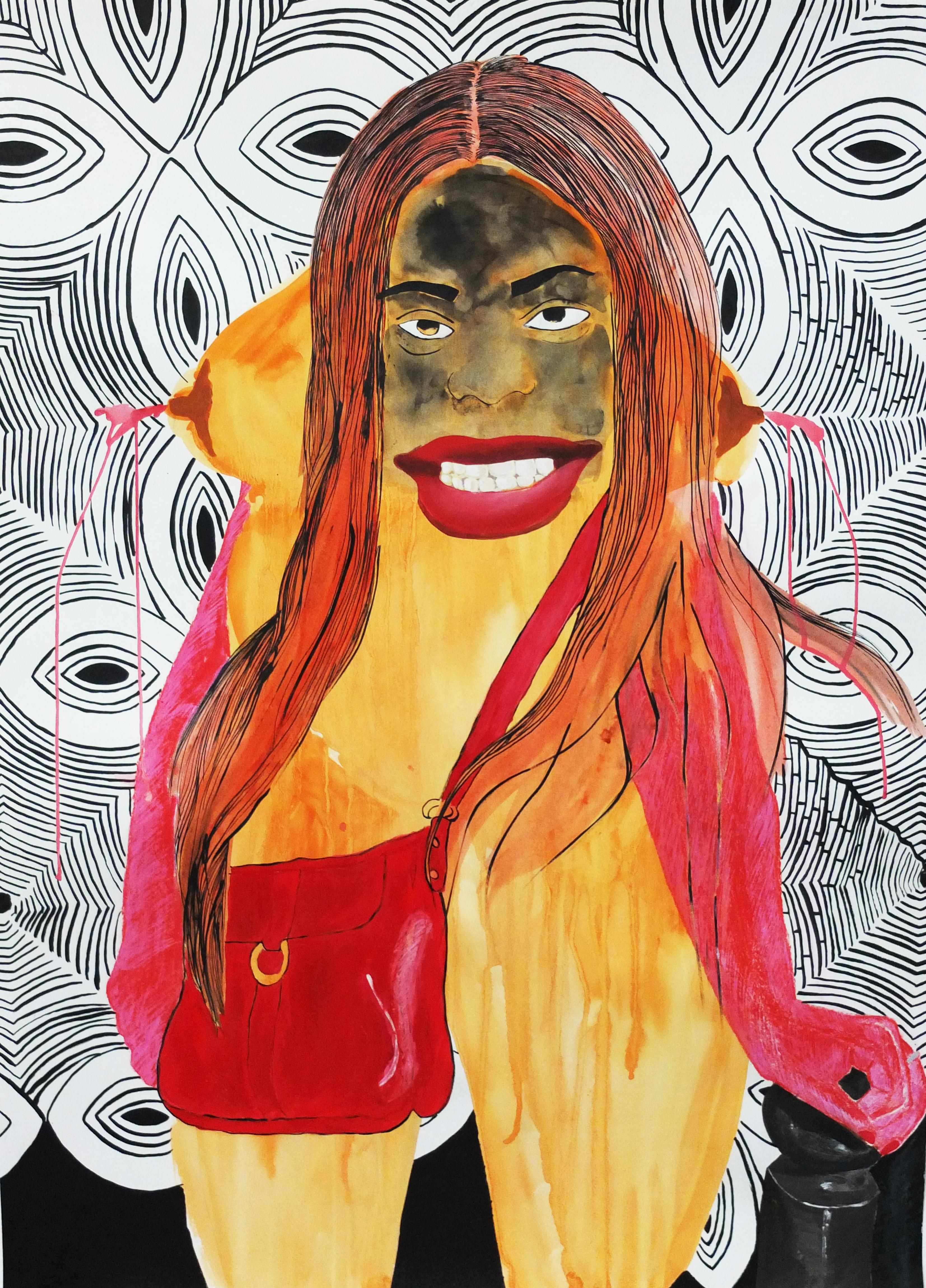 Jessica - Leslie Amine, 21st Century, Contemporary African drawing