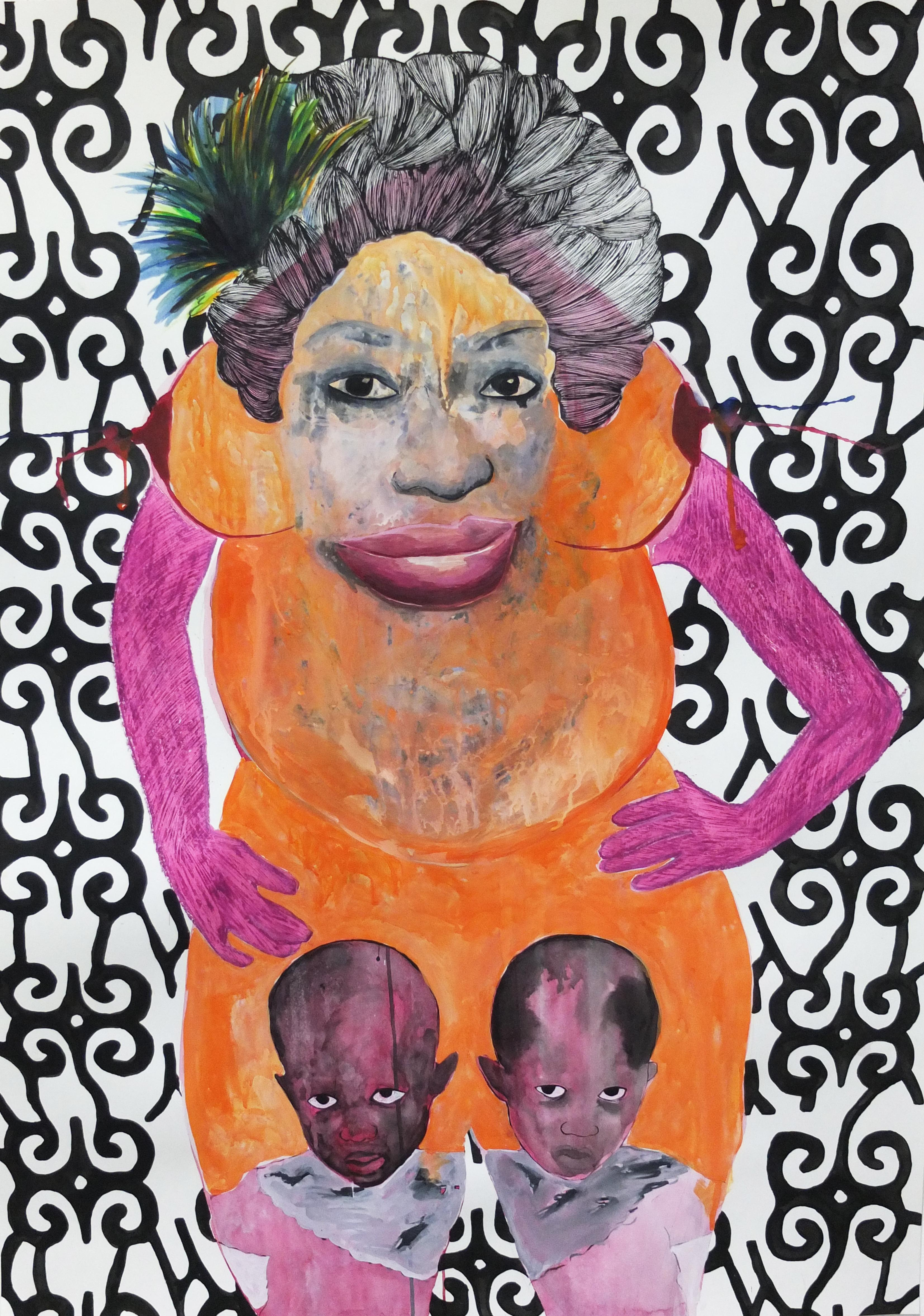 Namizata - Leslie Amine, 21st Century, Contemporary African drawing