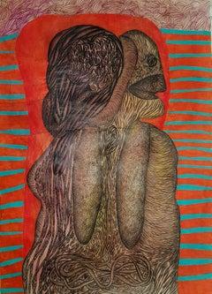 Head #1627- Geneviève Seillé, 21st Century, Outsider art, Figurative art