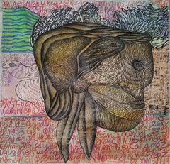 The brain of the monster #1640- Geneviève Seillé, 21st Century, Outsider art