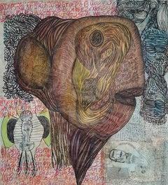 The brain of the monster #1636- Geneviève Seillé, 21st Century, Outsider art