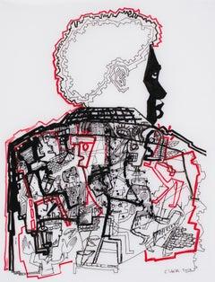 Like brothers #1 Caroline Veith, 21st Century, Contemporary figurative drawing