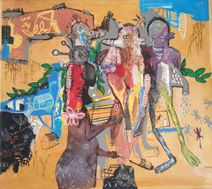 Lovers' walk - William Bakaïmo, 21st Century, Contemporary African Painting