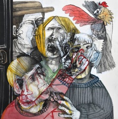 No se haga el gallito - Sergio Moscona, 21st Century, Figurative painting