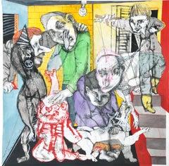 Festejos electorales - Sergio Moscona, 21st Century, Figurative painting