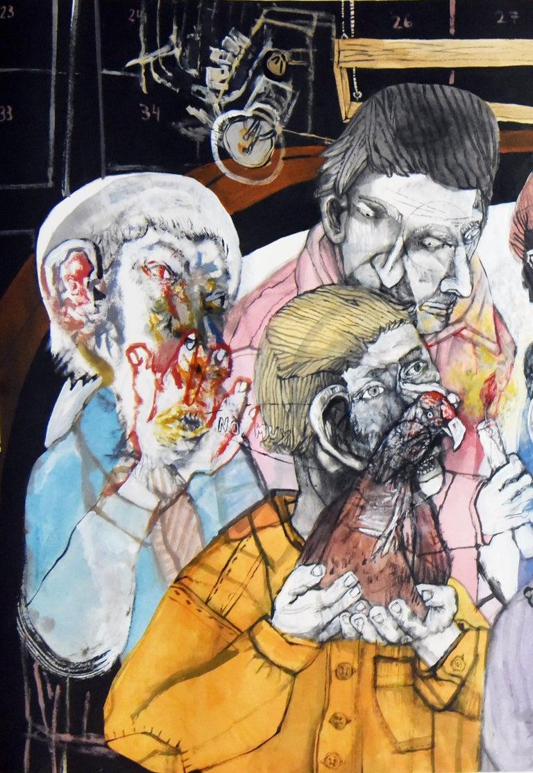 Fin de fiesta de pueblo - Sergio Moscona, 21st Century, Figurative painting - Contemporary Painting by Sergio Moscona