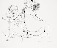 The couple / Disillusion - Lajos Szalay, 20th Century, Figurative drawing