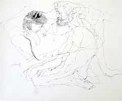 Couple - Lajos Szalay, 20th Century, Figurative drawing