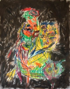 Survival colour - Julien Wolf, 21st Century, Contemporary Expressionist Drawing