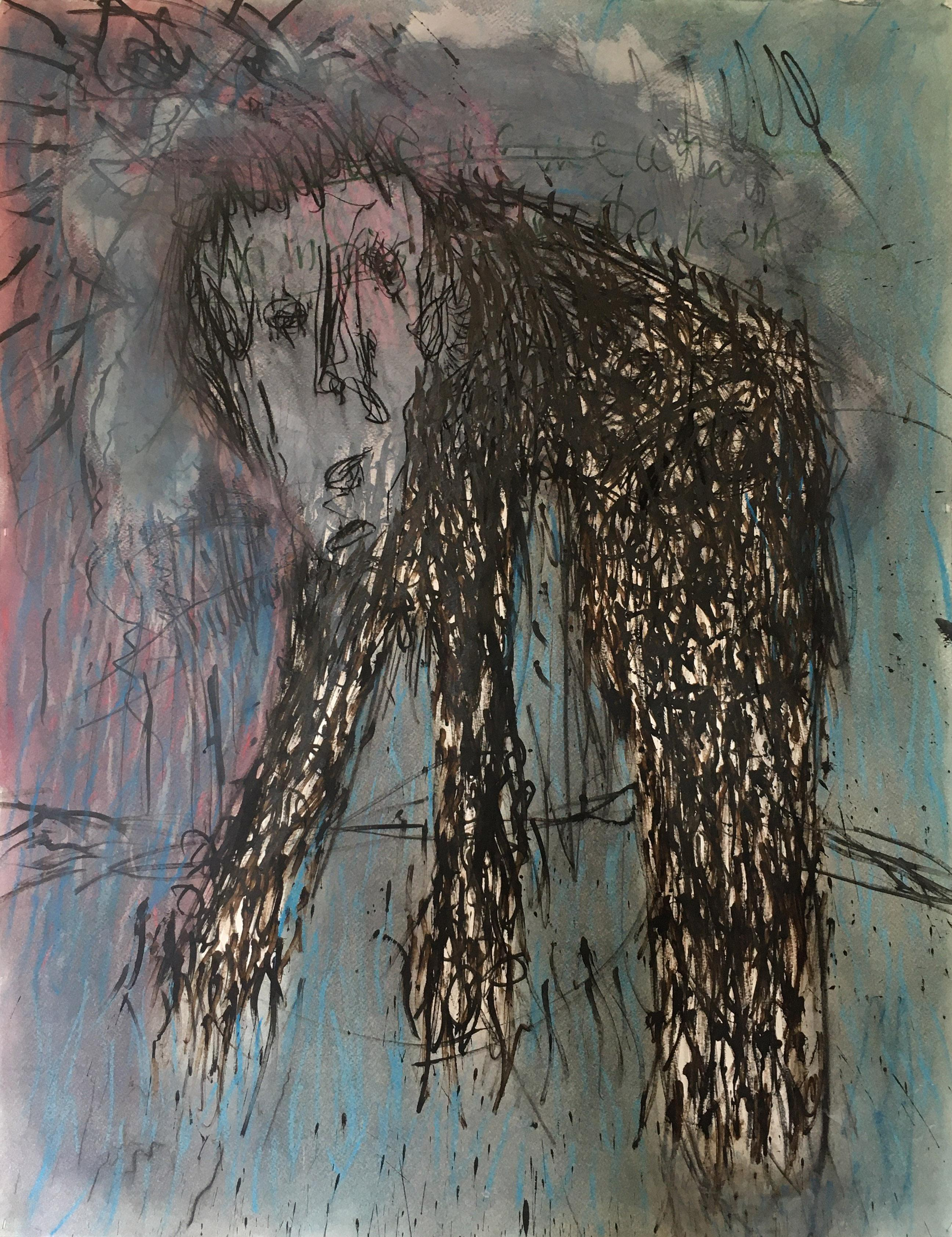 Patrick's cave - Julien Wolf, 21st Century, Contemporary Expressionist Drawing