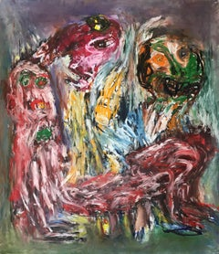 Terrace Theater - Julien Wolf, 21st Century, Contemporary Expressionist Drawing