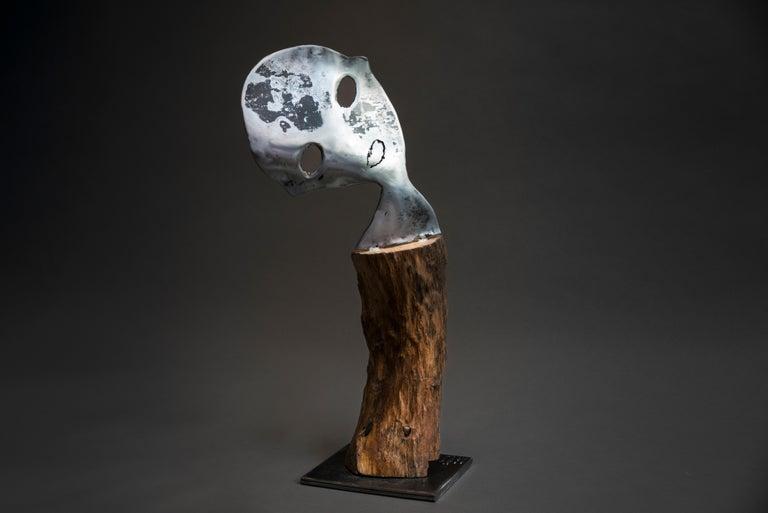 Traces - Haude Bernabé, 21st Century, Contemporary metal sculpture, figure - Sculpture by Haude Bernabé