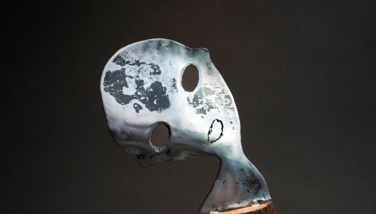 Traces - Haude Bernabé, 21st Century, Contemporary metal sculpture, figure - Brown Figurative Sculpture by Haude Bernabé